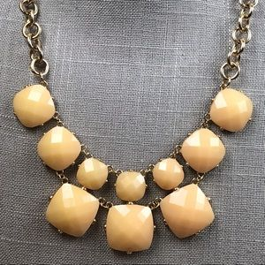 Jewelry - Tan and gold modern statement necklace